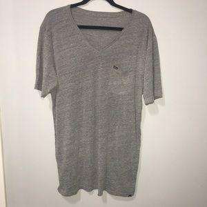 Grey Hurley V neck Short Sleeve T-shirt